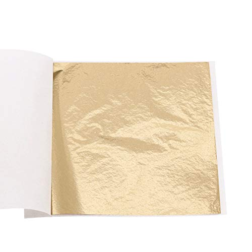 Imitation Gold Leaf Sheets - 100 Sheets 3.15 by 3.35 Inches