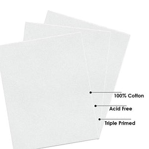 Canvas Boards for Painting Canvas Panels for Painting 8x10 (Pack of 5)