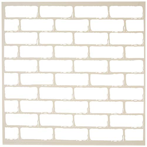 DecoArt Americana Mixed Media Stencil, 12 by 12-Inch, Brick Wall