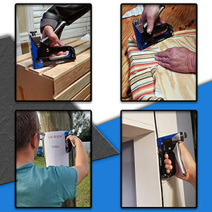 Heavy Duty Staple Gun with 600 Staples 3 in 1 - Great Stapler for Wood Upholstery Crafts Fabric Carpet & Hanging Decor on The Wall