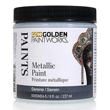 Load image into Gallery viewer, Golden Paintworks Metallic Paint, 8 oz. Jar, Serene