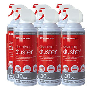Canned Air-Cleaning Duster, 10 Oz, Pack of 6