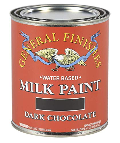 General Finishes Water Based Milk Paint, 1 Quart, Dark Chocolate