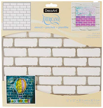 Load image into Gallery viewer, DecoArt Americana Mixed Media Stencil, 12 by 12-Inch, Brick Wall