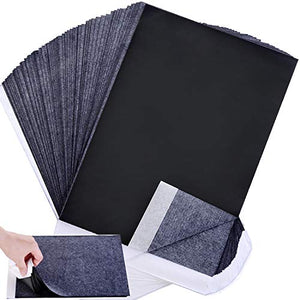 Carbon Paper, Black Graphite Transfer Tracing Paper for Wood, Paper, Canvas and Other Art Surfaces- 100 Sheets