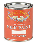 General Finishes Water Based Milk Paint, 1 Quart, Alabaster