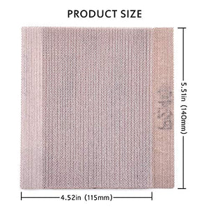 "Mesh Sheet Sandpaper 240 Grit 1/4 Sheet Hook & Loop or Clip on Sander Sheets 5.5"" x 4.5"" Dust Free Sanding Sheets for Palm Sanders Polishing Accessories, 10PCS"