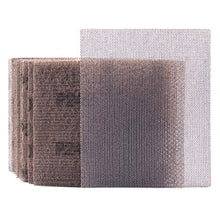 "Load image into Gallery viewer, Mesh Sheet Sandpaper 240 Grit 1/4 Sheet Hook & Loop or Clip on Sander Sheets 5.5"" x 4.5"" Dust Free Sanding Sheets for Palm Sanders Polishing Accessories, 10PCS"