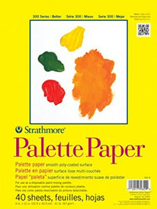 "Strathmore 365-9 300 Series Palette Pad, 9""x12"" Tape Bound, 40 Sheets"