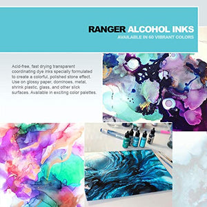 Alcohol Ink Set 7 Bottle Collection of Ranger Vibrant Colors and Metallic Mixitives
