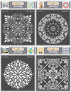 Round Stencils for Painting on Wood, Canvas, Paper, Fabric, Floor, Wall and Tile