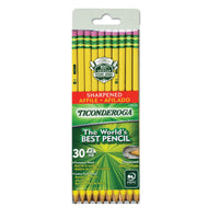 Pencils, Wood-Cased, Pre-Sharpened, Graphite #2 HB Soft, Yellow, 30-Pack (13830)