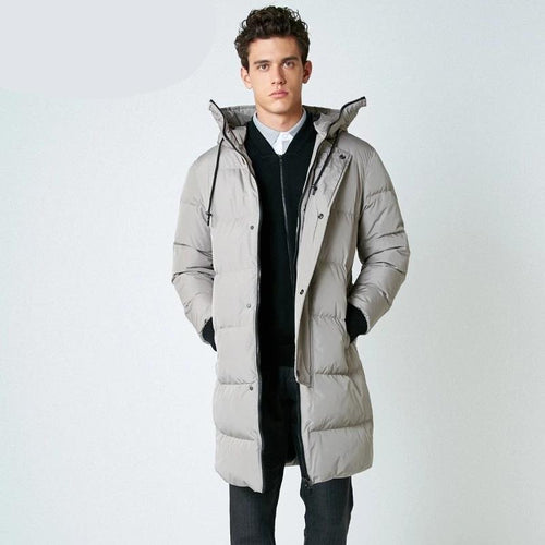 Men's Winter Down Jacket Casual Parka Long Coat