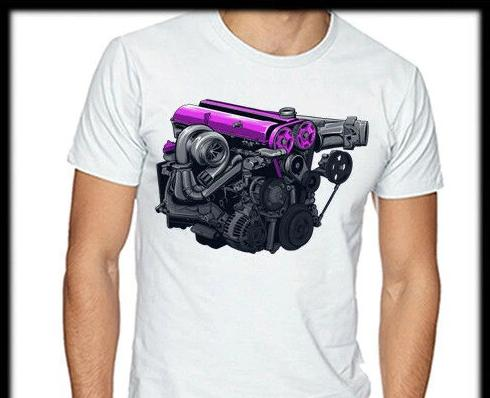 2JZ engine T-shirt v2