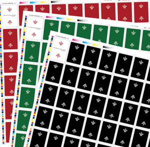 Gamesters Uncut Sheet Bundle (Red, Black & Green)