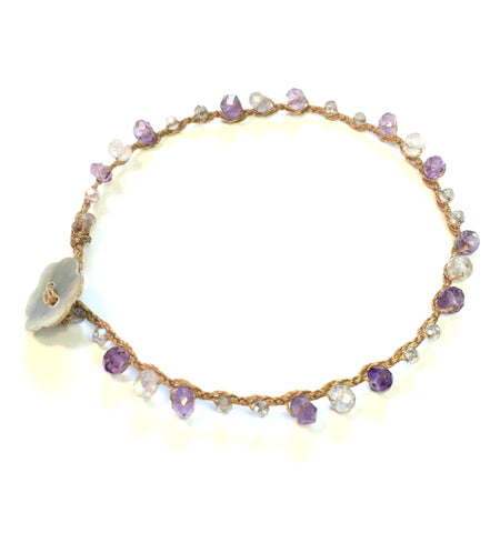 Purple Tourmaline and Labradorite Bracelet