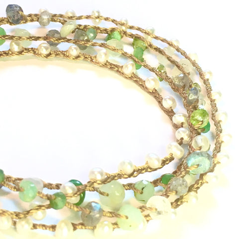 Pearls, Pearls, Chrysoprase, Labradorite, Peridot, Moonstone, and more Pearls