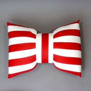 Striped Bow Tie Pillow