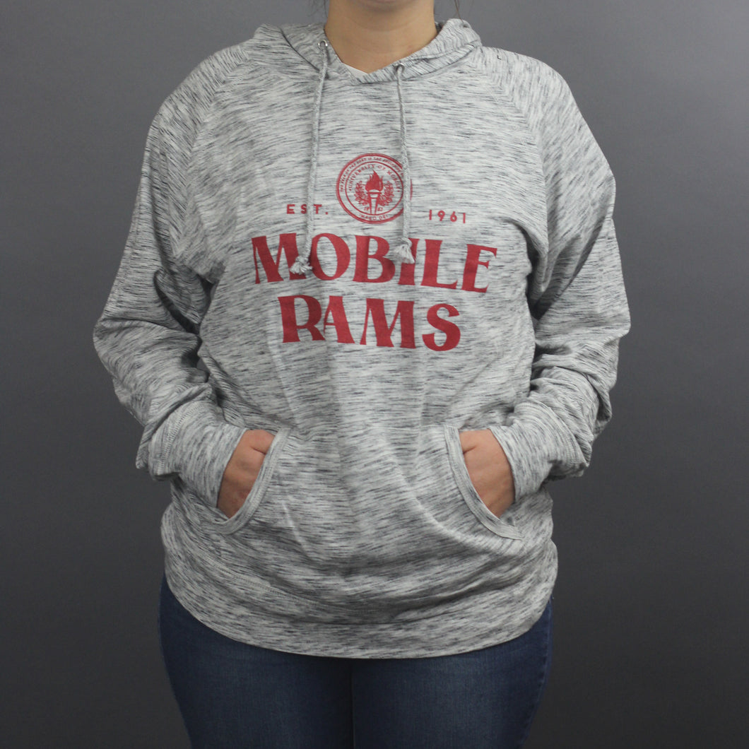 1961 Company Raglan Mobile Rams Hooded Shirt