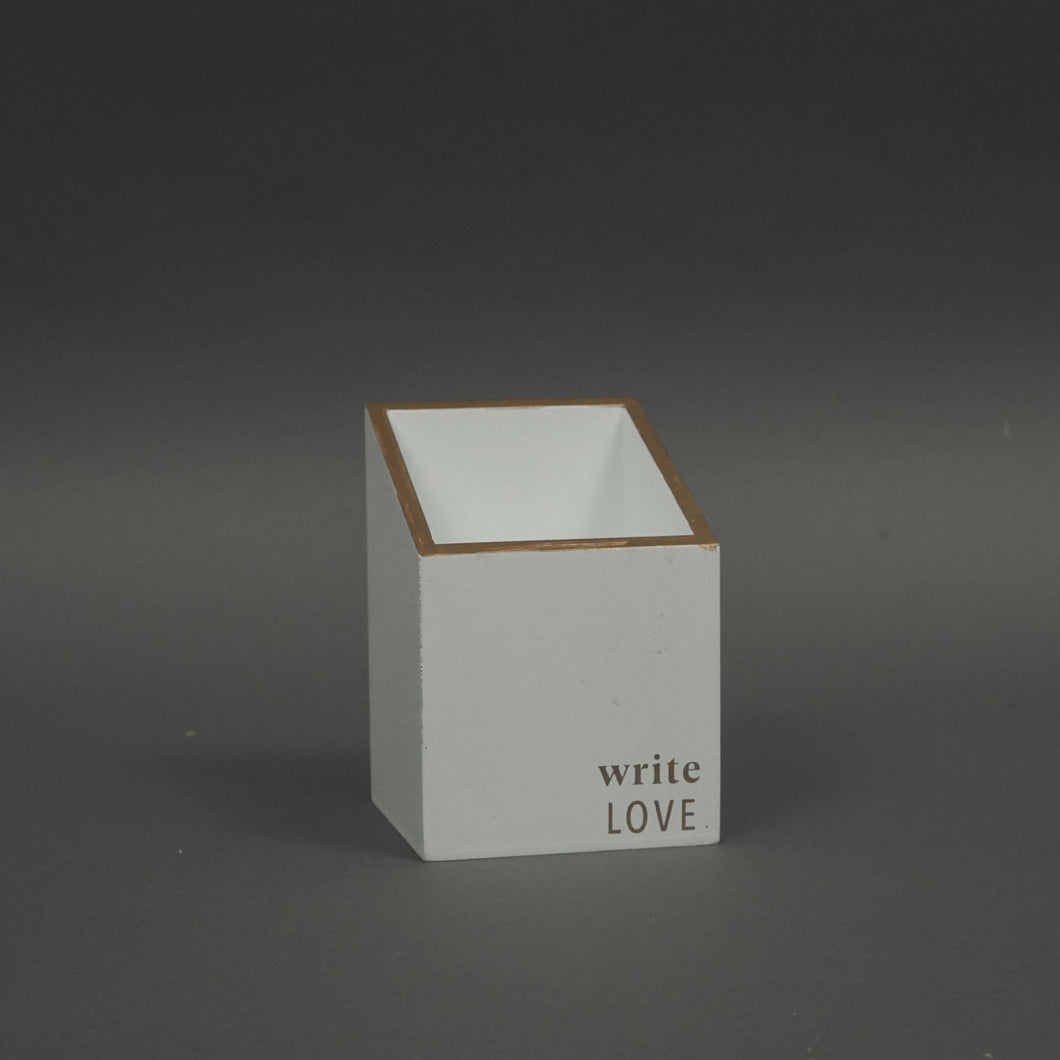 Write Love Pencil Holder