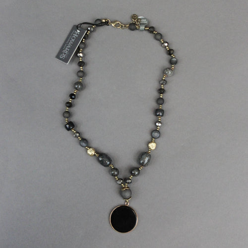 Beaded Black Onyx Necklace