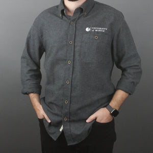 Men's Brushed Flannel Solid Long Sleeve Shirt