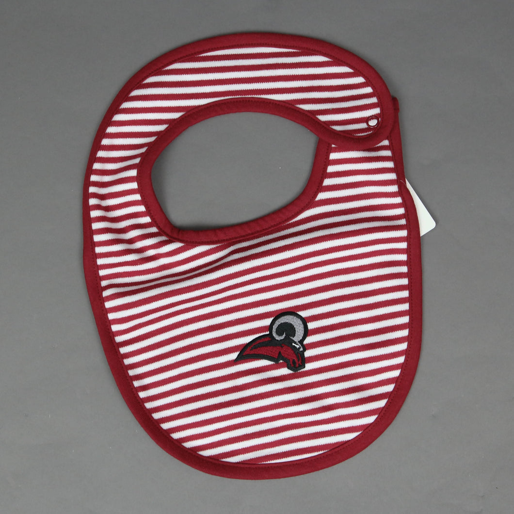 Striped Rams Baby Bib