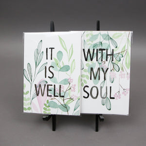 "5""x7"" It Is Well Watercolor Set by Megan Desko Art"