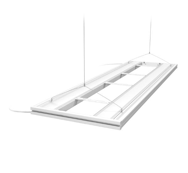 G2 Hybrid T5 HO Light Fixture - White - 61"