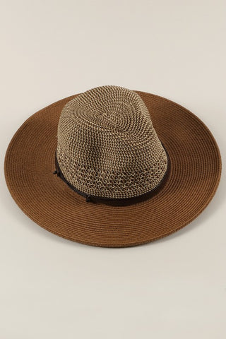 """Sedona"" Straw Panama Hat - Brown"