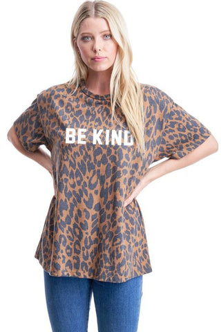 """Be Kind"" Cheetah Top"