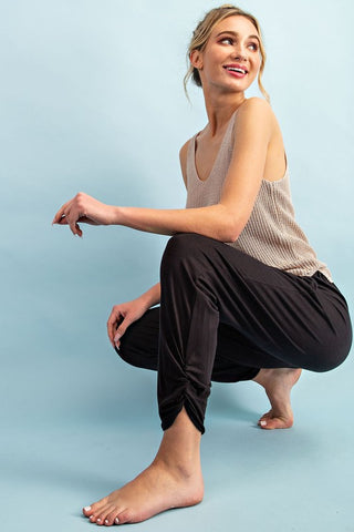 """Kyle"" Soft Blend High Waist Pants in Black"