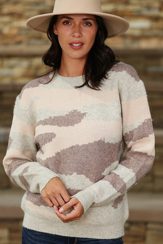 """Desert Camo"" Super Soft Knitted Sweater Top"