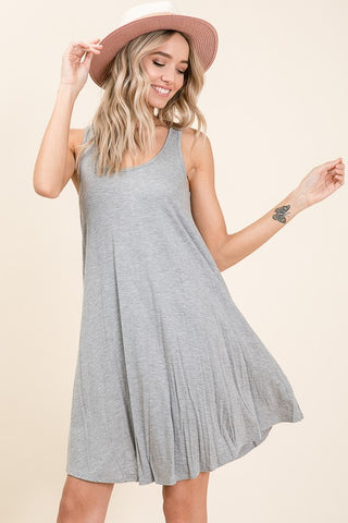 The Essential Tank Dress - Gray