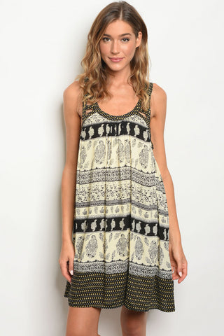 """Albuquerque"" Black & Cream Dress *"