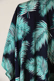 """Palm Springs"" Navy & Green Kimono Top"