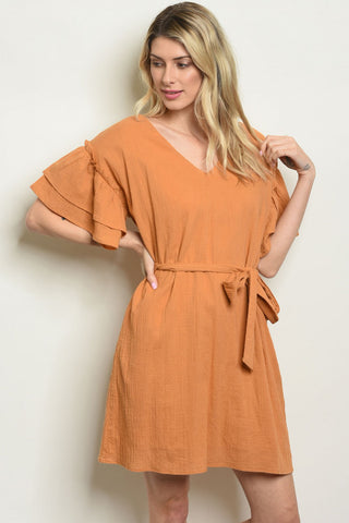 """India"" Dress in Camel Color"