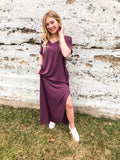 """Brielle"" Daytripper Maxi Dress in Eggplant"