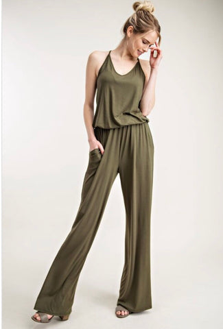 """In the Army"" Green Jumpsuit"