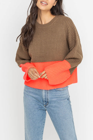 """Give Thanks"" Chunky Knit Sweater Top"