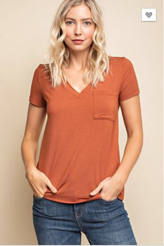 """Cognac"" Not-So-Basic Top"