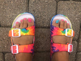 Mia Tie Dye Double Strap Sandals
