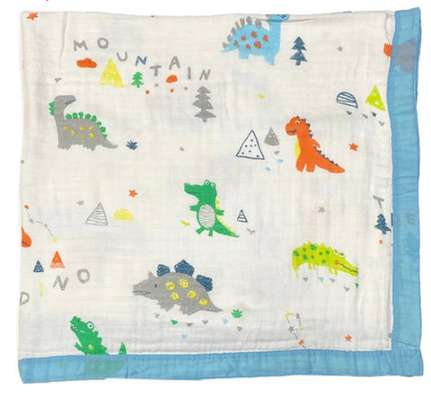 Crocs and Dinos Baby Blanket