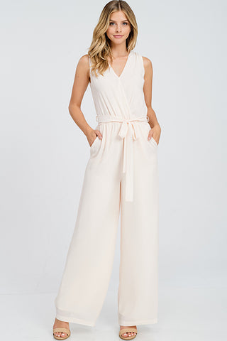 """Chloe"" Blush Jumpsuit"