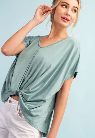 """Allyson"" Twist Front Modal Top (choose from 4 colors!)"