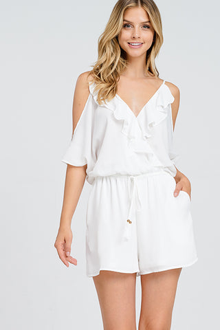 """Snow White""  Cold-Shoulder Romper"