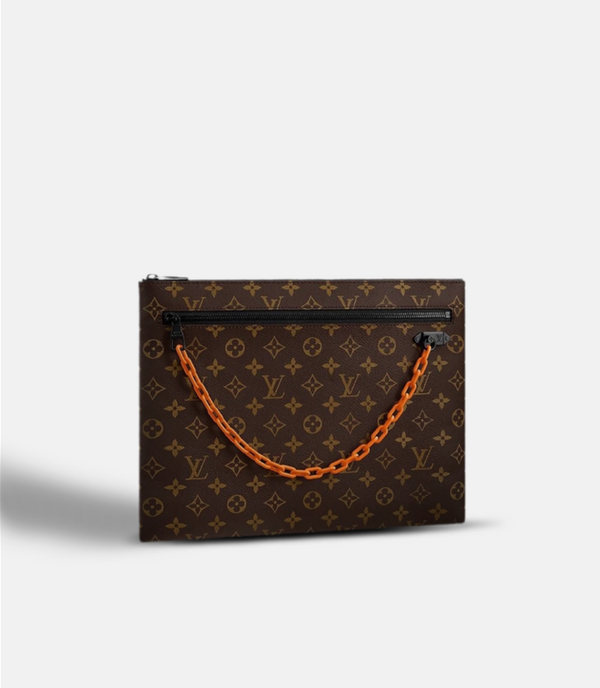 A4 Pouch Monogram Brown