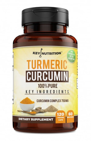 Turmeric Curcumin Complex with Peperine and Nettle, 1,500mg, Pain Relief, by Key Nutrition