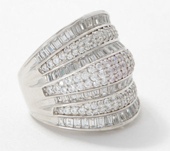TOVA® Diamonique® Anniversary Ring, Sterling Silver