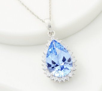 TOVA® Diamonique® Simulated Aquamarine Necklace